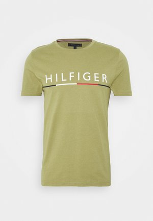 GLOBAL STRIPE TEE - Triko s potiskem - green
