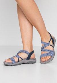 Skechers Wide Fit - REGGAE SLIM - Sandals - navy - 0