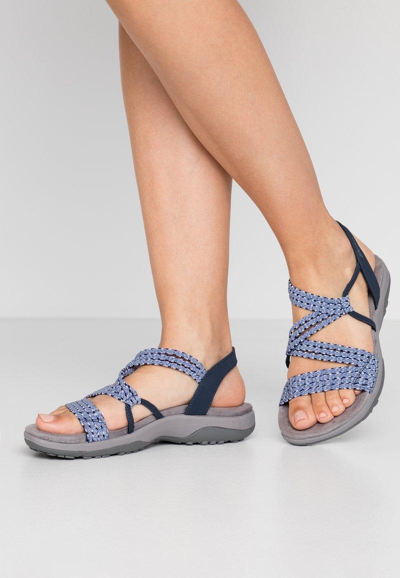 Skechers Wide Fit - REGGAE SLIM - Sandals - navy