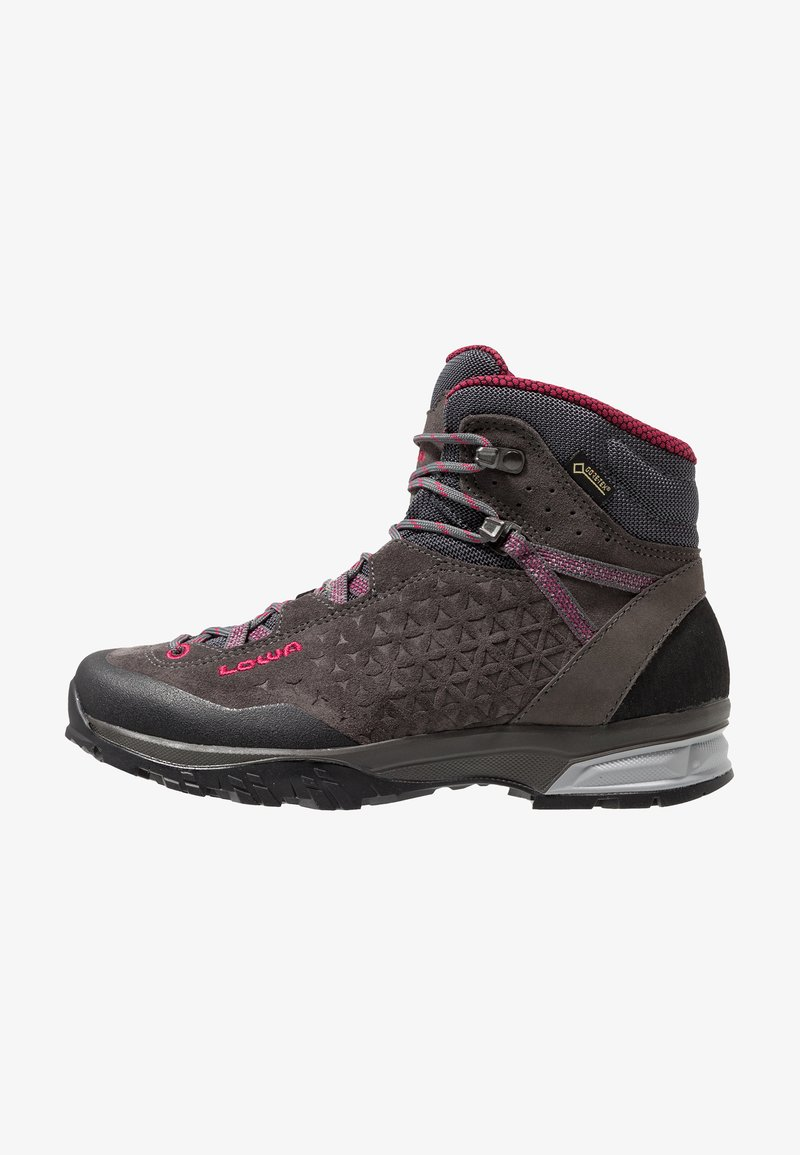 Lowa - SASSA GTX MID - Hiking shoes - anthrazit/fuchsia