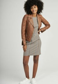 NAF NAF - CAREN - Veste en cuir - brown - 1