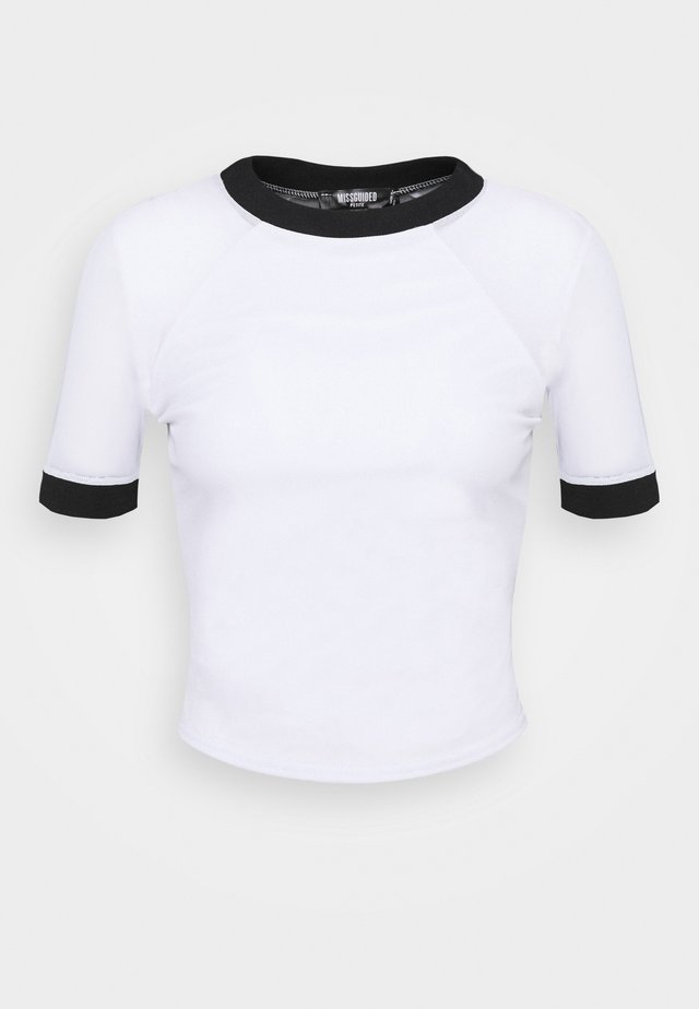 CONTRAST - T-shirt con stampa - white