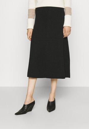 SIMONE - A-line skirt - black