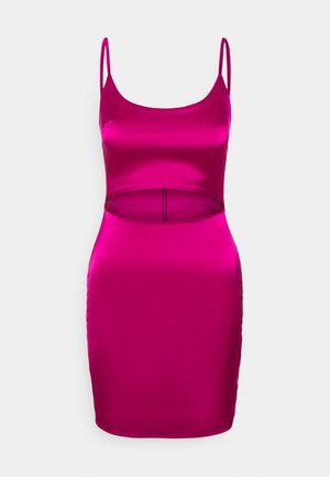 CUT OUT BODYCON MINI DRESS - Sukienka koktajlowa - pink
