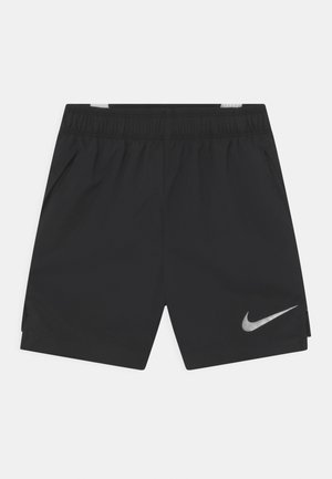 Sports shorts - black/white/reflect silver