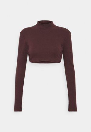 UNDERBUST SHAPED CROP - Longsleeve - plum