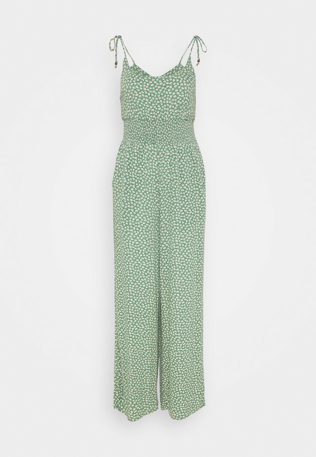 DOUBLE TIE CINCHED - Jumpsuit - green