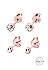 Elli - 2er Pack Stecker - Earrings - rosegold-coloured/white - 2