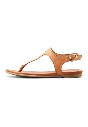 ZEHENTRENNER - T-bar sandals - hellbraun