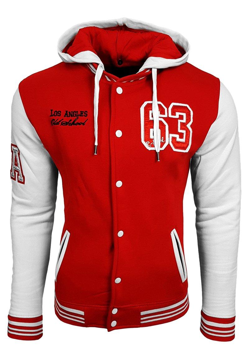 Rusty Neal - COLLEGE JACKE HERREN SWEATSHIRT KAPUZENPULLER US COLLEGE LOS ANG - Zip-up hoodie - rot / weiß