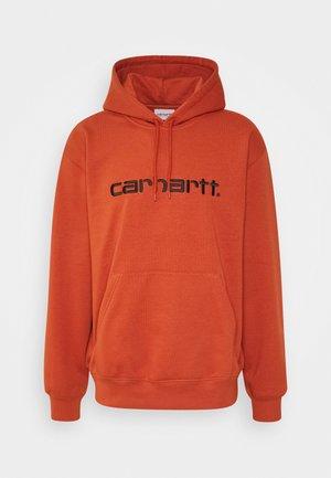 Hoodie - cinnamon/black