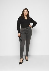 Kaffe Curve - LIMA - Long sleeved top - black deep - 1