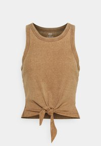 aerie - CROPPED TIE FRONT TANK - Top - cedar expedition - 0