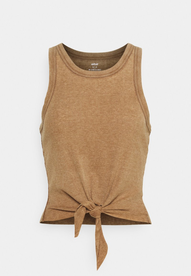 aerie - CROPPED TIE FRONT TANK - Top - cedar expedition