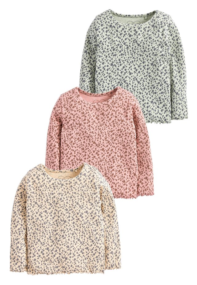 LEOPARD 3 PACK RIB T-SHIRTS (3MTHS-7YRS) - Jumper - beige