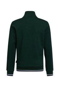 WE Fashion - MET OPSTAANDE KRAAG - Zip-up hoodie - dark green - 1