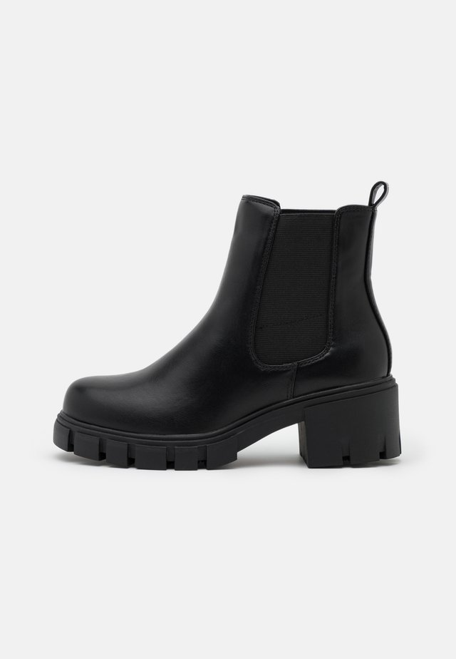 TESSA - Platform ankle boots - black paris