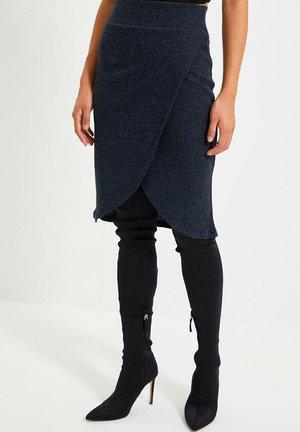 Wrap skirt - navy blue