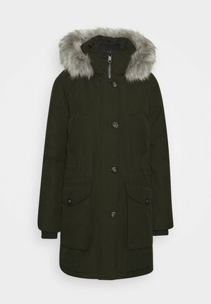 GLOBAL STRIPE PADDED - Winter coat - camo green