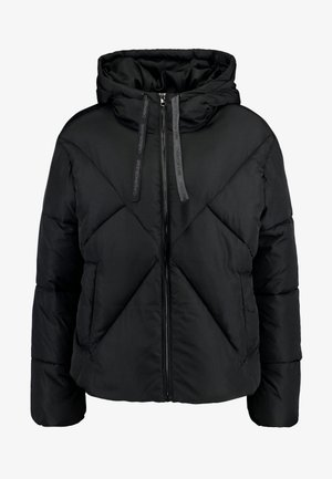 QUILTED PUFFER JACKET - Winter jacket - black