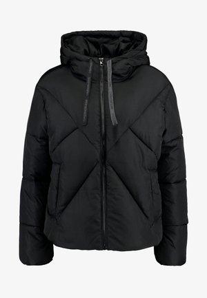 QUILTED PUFFER JACKET - Zimní bunda - black