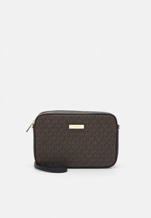 JET SET CROSSBODY - Across body bag - brown/black