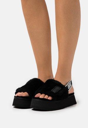 DISCO SLIDE - Slippers - black