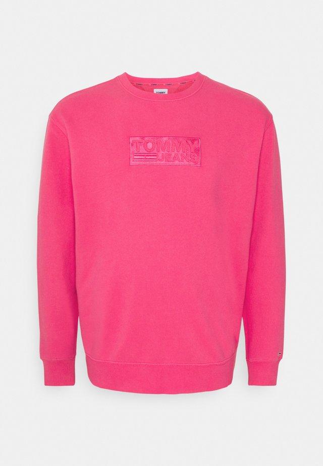TONAL LOGO CREW - Sweatshirt - bright cerise pink