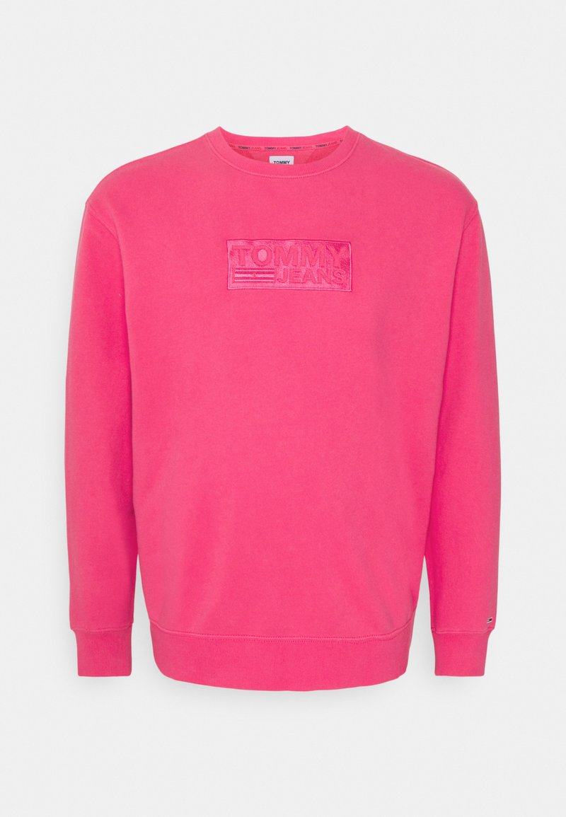 Tommy Jeans Plus - TONAL LOGO CREW - Felpa - bright cerise pink