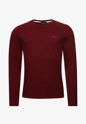 VINTAGE EMB LS  - Long sleeved top - rich red grit