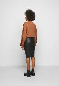 By Malene Birger - FLORIDIA - Leather skirt - black - 2