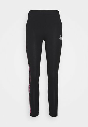 PRINTED SIDE - Leggings - Trousers - black