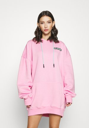 PLAYBOY BUNNY GRAPHIC HOODY DRESS - Day dress - pink