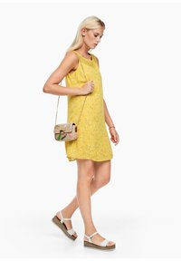 s.Oliver - Day dress - yellow aop mini flowers - 1