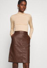 Soyaconcept - GUNILLA  - A-line skirt - brown - 3