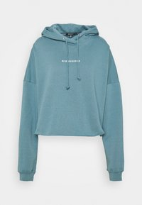 Missguided Tall - CROPPED HOODIE - Sweatshirt - light blue - 0