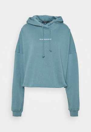 CROPPED HOODIE - Sweatshirt - light blue