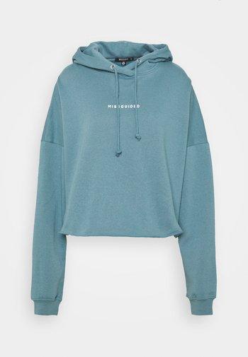 CROPPED HOODIE - Sweatshirt - light blue