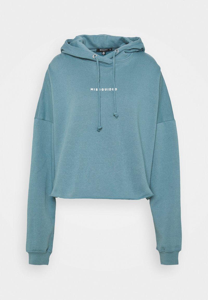Missguided Tall - CROPPED HOODIE - Sweatshirt - light blue