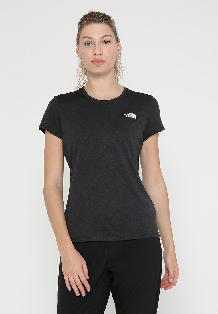 The North Face - WOMENS REAXION CREW - Basic T-shirt - black heather