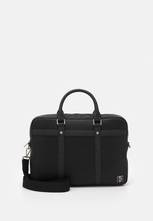 MONOGRAM SLIM BAG UNISEX - Ventiquattrore - black