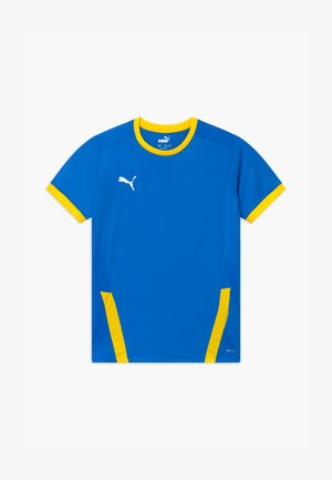 T-shirt z nadrukiem - electric blue/cyber yellow