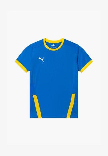 Print T-shirt - electric blue/cyber yellow
