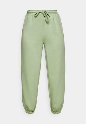 DRAWSTRING  - Tracksuit bottoms - green