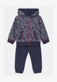 Guess - HOODED ACTIVE BABY SET  - Trainingsanzug - dark blue - 0