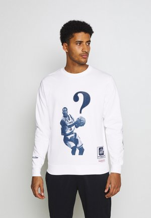 NBA ALLEN IVERSON WHATS THE QUESTION CREW - Sweatshirt - white