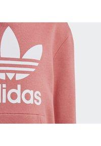 adidas Originals - TREFOIL HOODIE SET - Hoodie - hazy rose/white - 6