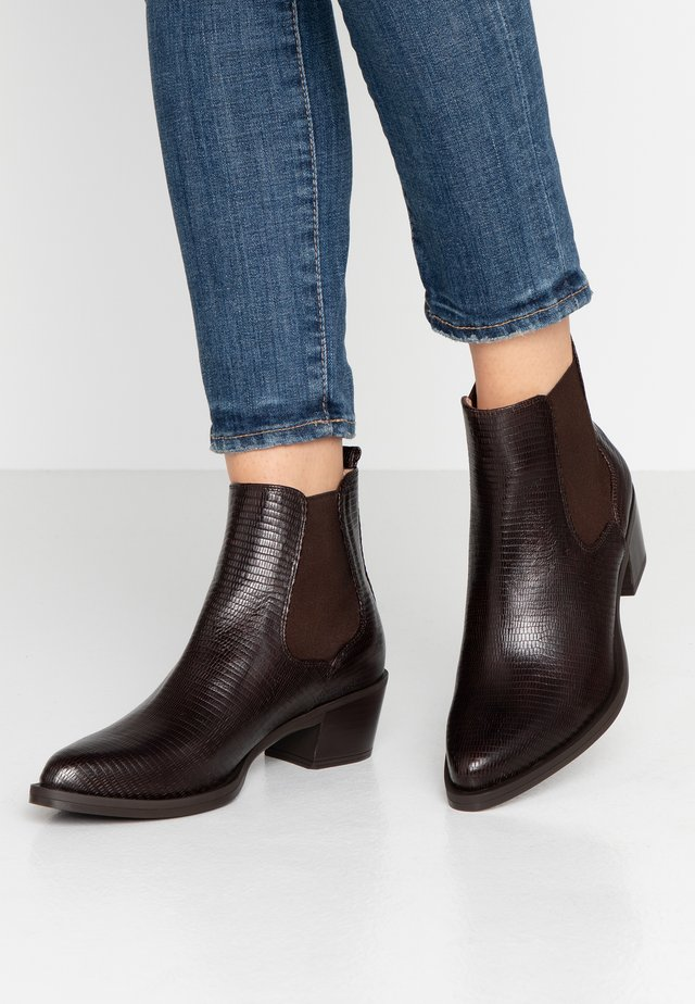 GREYSON - Cowboy/biker ankle boot - brown