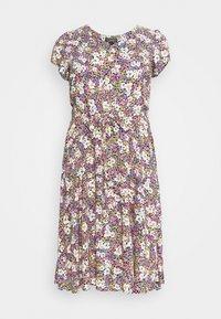 Dorothy Perkins Curve - BILLIE DITSY PRINTED VNECK MIDI DRESS  - Day dress - black - 5