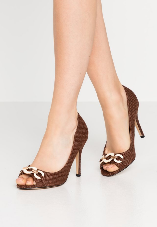CHURCH - Peeptoe heels - chocolate